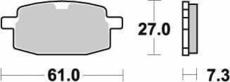 SBS - PLACUTE FRANA SCOOTER CERAMIC - 111HF = 619HF
