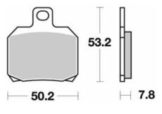 SBS - PLACUTE FRANA SCOOTER CERAMIC - 157HF = 730HF