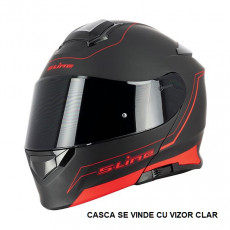 SIFAM - Casca Flip-up S-LINE S550 - NEGRU/ROSU, L