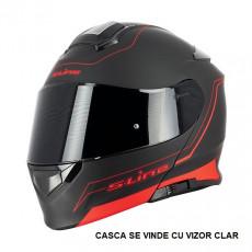 SIFAM - Casca Flip-up S-LINE S550 - NEGRU/ROSU, S