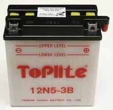 TOPLITE YUASA - 12N5-3B (CU INTR., NU INCL. ACID)