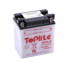 TOPLITE YUASA - YB10L-B = 12N10-3B (CU INTR., NU INCL. ACID)