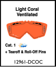 ARIETE - LENTILE - DOUBLE CYLINDRICAL ORANGE VENTILATED WITH CLIPS
