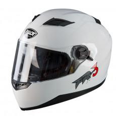 PILOT - Casca Full-face FR3 (cu ochelari soare) - alb, XL