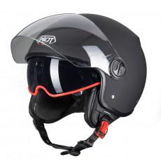 PILOT - Casca Open-face FAZER (sun visor) - XL, negru mat [monocolor]