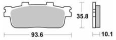 SBS - PLACUTE FRANA SCOOTER CERAMIC - 201HF = 847HF