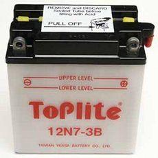 TOPLITE YUASA - 12N7-3B (CU INTR., NU INCL. ACID)