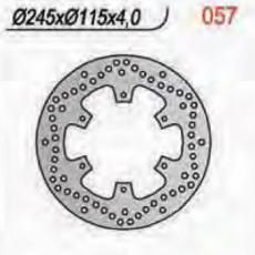 NG - DISC FRANA NG57001 / NG057 - XTZ750 '89-'95