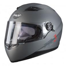 PILOT - Casca Full-face FR3 (cu ochelari soare) - gri mat, XL
