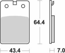 SBS - PLACUTE FRANA SCOOTER CERAMIC - 133HF = 605HF