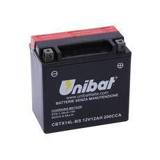 UNIBAT - CBTX14L-BS (YTX14L-BS) (FARA INTRETINERE, INCLUDE ACID)