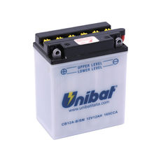 UNIBAT - CB12AB-SM (YB12A-B) (CU INTRETINERE, INCLUDE ACID)