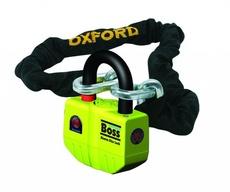 """OXFORD - LACAT DISC CU ALARMA """"BOSS"""" + LANT 1.5 M X12MM"""
