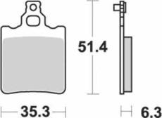 SBS - PLACUTE FRANA SCOOTER CERAMIC - 106HF = 574HF