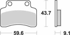 SBS - PLACUTE FRANA SCOOTER CERAMIC - 141HF = 723HF