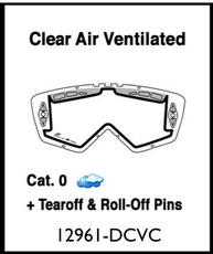 ARIETE - LENTILE - DOUBLE CYLINDRICAL CLEAR VENTILATED WITH CLIPS