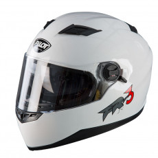 PILOT - Casca Full-face FR3 (cu ochelari soare) - alb, XXL