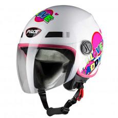 PILOT - Casca Open-face FAZER JUNIOR - S, roz