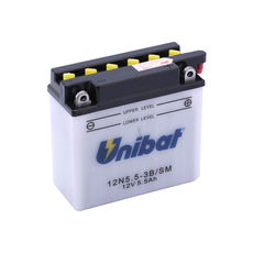 UNIBAT - 12N553B-SM (12N5.5-3B) (CU INTRETINERE, INCLUDE ACID)