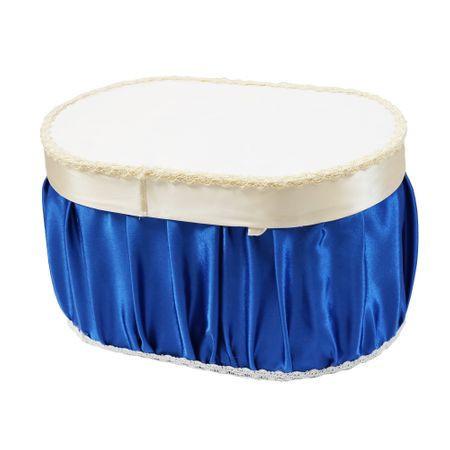 Cutie pentru transport trusou, 45x30x25, alb/albastru