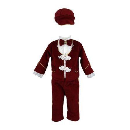 Costum elegant, 4 piese, 0-3 luni, visiniu