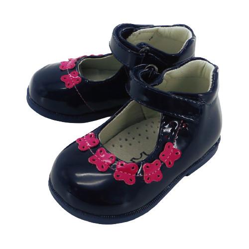Pantofi fete,bleumarin cu fluturas