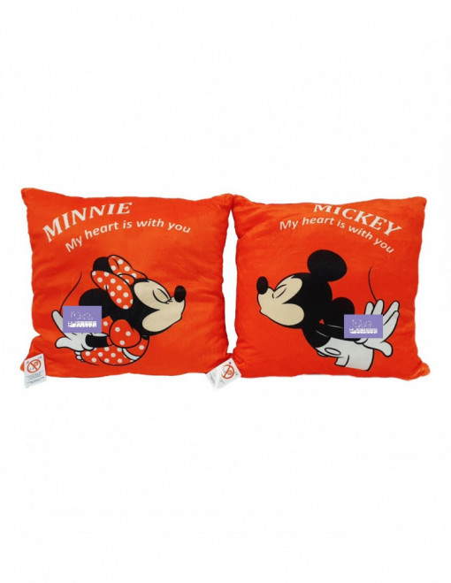 Set 2 perne din plus Minnie si Mickey Mouse
