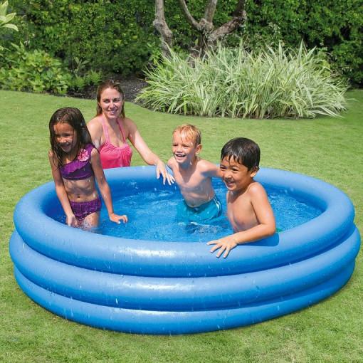 Piscina gonflabila copii Intex Crystal Blue 168 cm