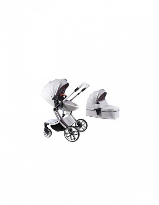 Carucior 2 in 1 Egg Shape F1, silver