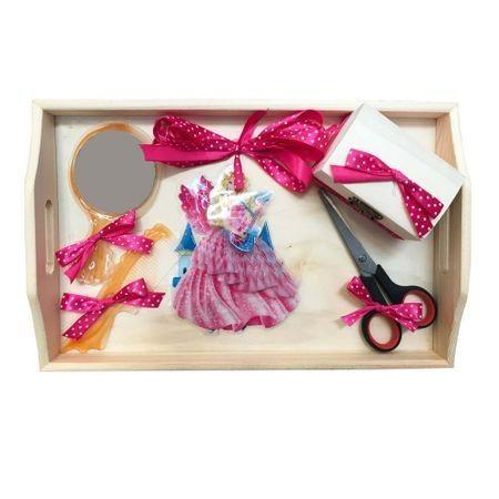 Tavita pentru turta, 4 piese, lemn, roz