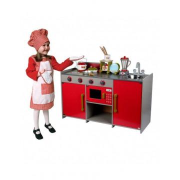 Bucatarie completa din lemn, Red European Kitchen