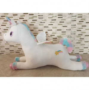 Calut Unicorn de plus 100 cm ALB