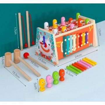 Centru activitati din lemn,6in1-Clown