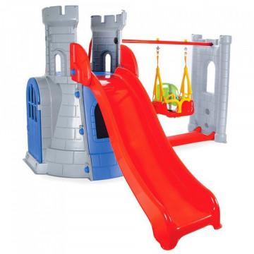 Centru de joaca Pilsan Castle Slide and Swing Set grey