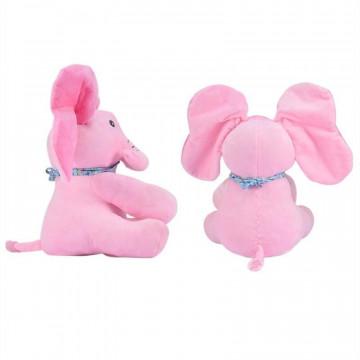 Elefantel CUCU BAU, muzical, ce misca urechile,roz