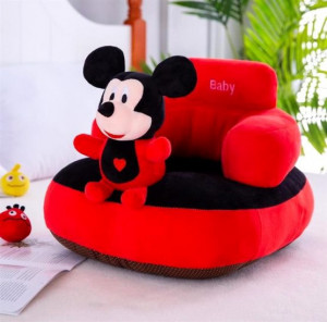 Fotoliu bebe plus sit up cu spatar Mickey Mouse