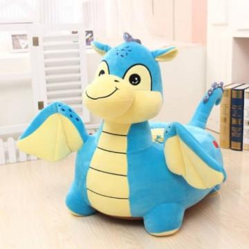 Fotoliu din plush Dragonul Albastru