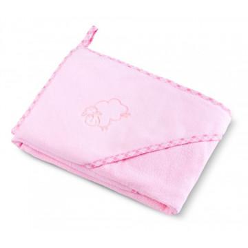 Prosop cu gluga SHEEP 80x80 cm Pink