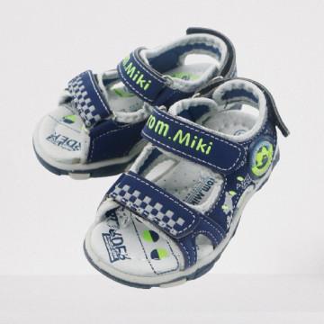 Sandale sport, baieti, 21-26, albastru/gri