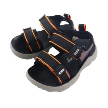 Sandale sport baieti, material textil,negru