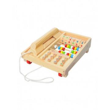 Telefon din lemn cu numaratoare