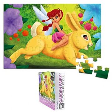 Joc puzzle jumbo pentru podea, Garden Fairy, 48 piese, 90*60 cm