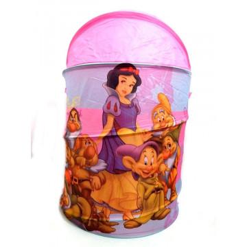 Cos pentru jucarii Printesele Disney, roz, 43x53 cm