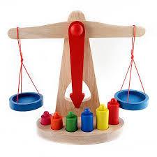 Balanta din lemn cu 6 cilindri pentru copii