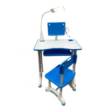 Birou cu scaun pentru copii si lampa,albastru