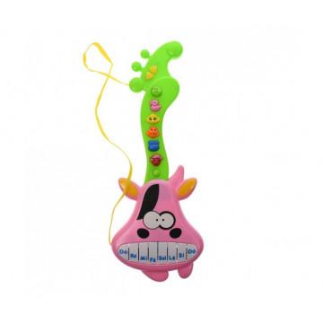 Chitara de jucarie pentru copii, cu melodii si sunete de animale