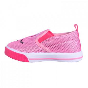 Espadrile fete Tom 5668, brant din piele cu talonet, 20-24, roz