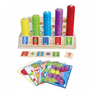 Joc educativ asociere puzzle si numaratoare cu 9 planse