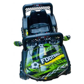 Masinuta electrica cu 2 locuri si suspensii Jumbo Jeep graffiti football