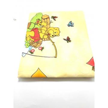 Set lenjerie 3 piese patu bebe, ursulet crem